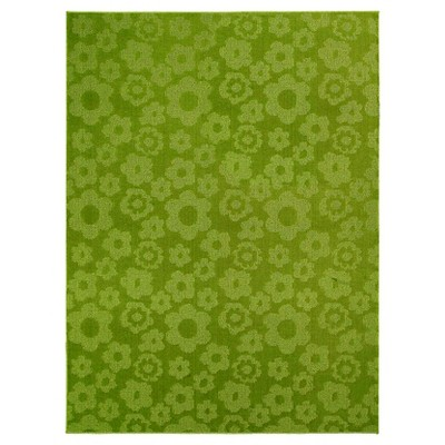 Garland Flowers Area Rug - Lime (7'6 X9'6 )