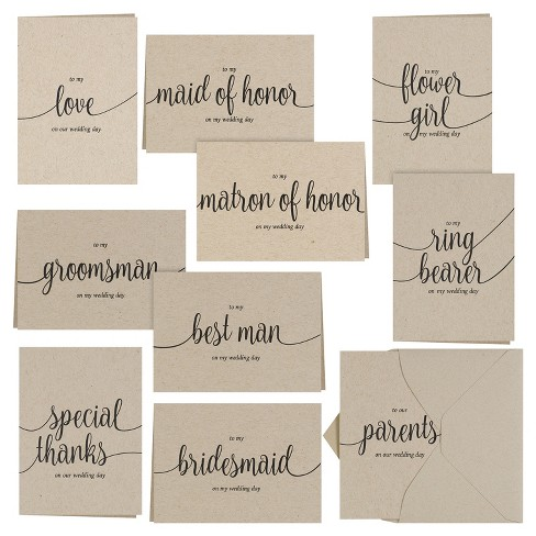 30ct Sable Brown Thank You Card Pack Target