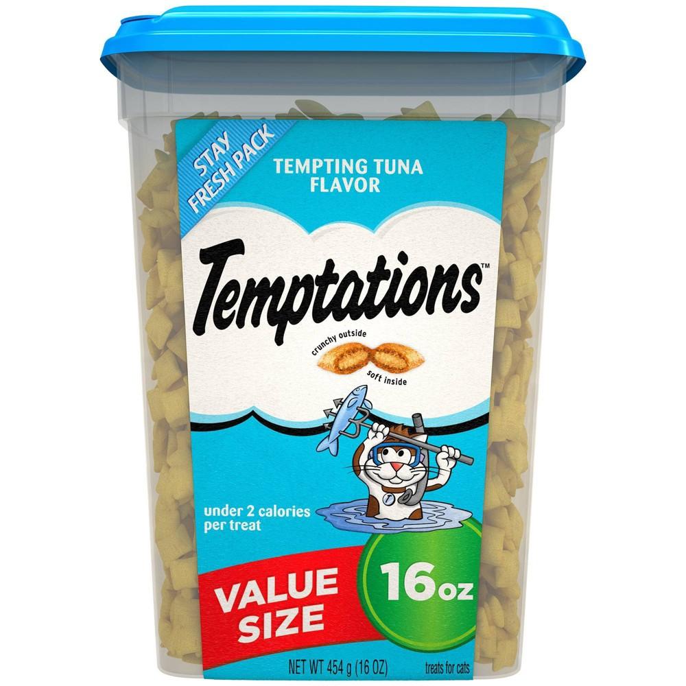 Temptations Tempting Tuna Flavor Crunchy Cat Treats 16oz
