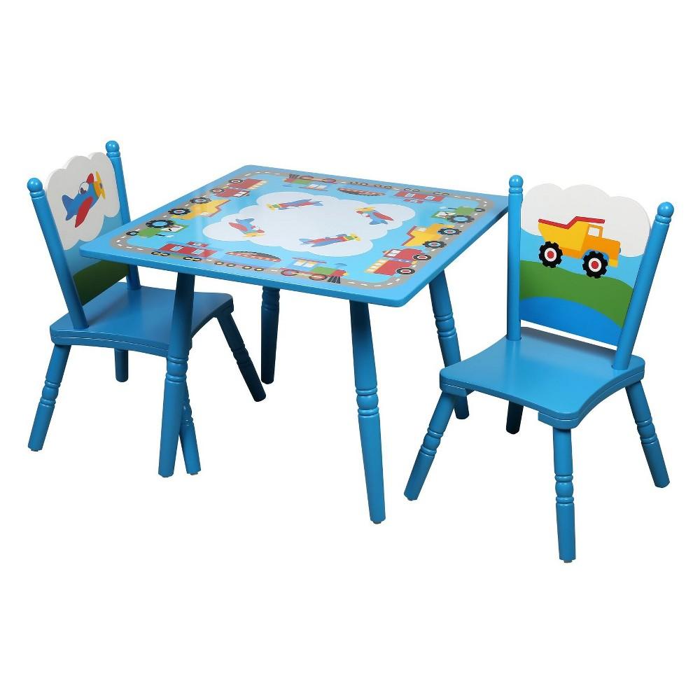 Olive Kids Trains, Planes, Trucks Table & Chair Set