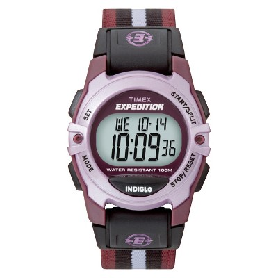 Timex Expedition Digital Watch with Nylon Strap - Purple T49659JT