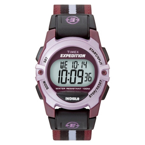 Timex Expedition Digital Watch with Nylon Strap - Purple T49659JT - image 1 of 3