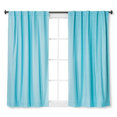 Twill Blackout Curtain Panel Turquoise Glass (42 x63 )- Pillowfort™