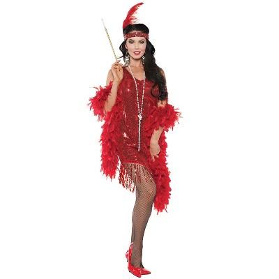 Underwraps Costumes Swingin Flapper Adult Costume (Red)