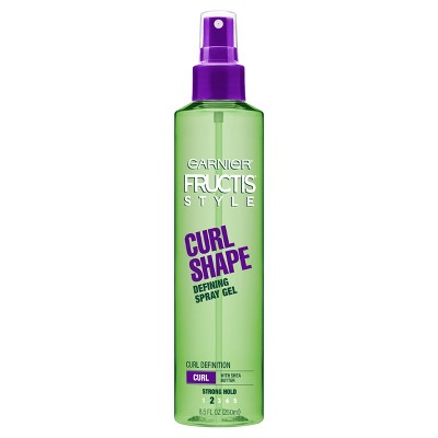 Hair Spray: Garnier Fructis Curl Shape Defining Spray Gel