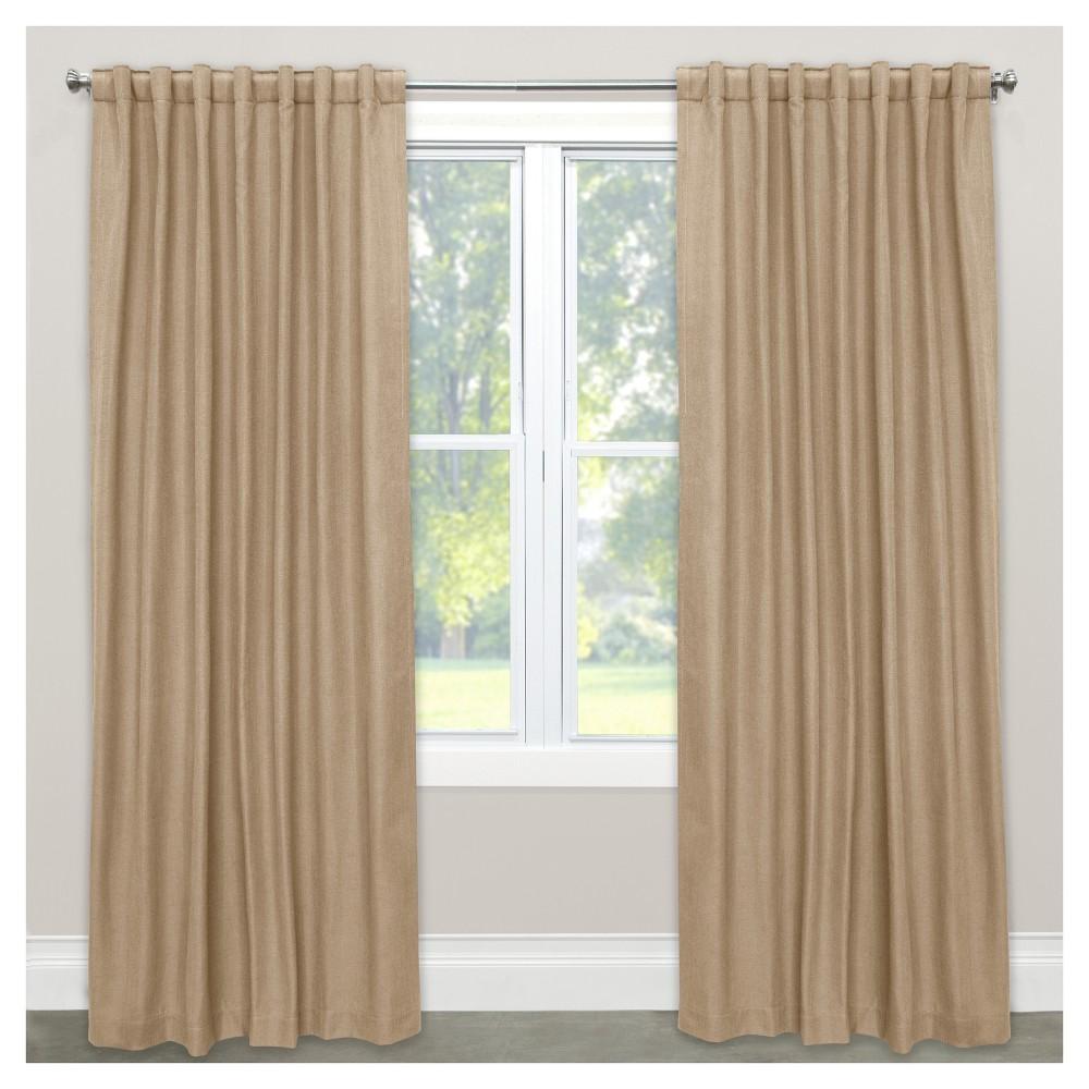 Linen Blackout Curtain Panel Tan (50