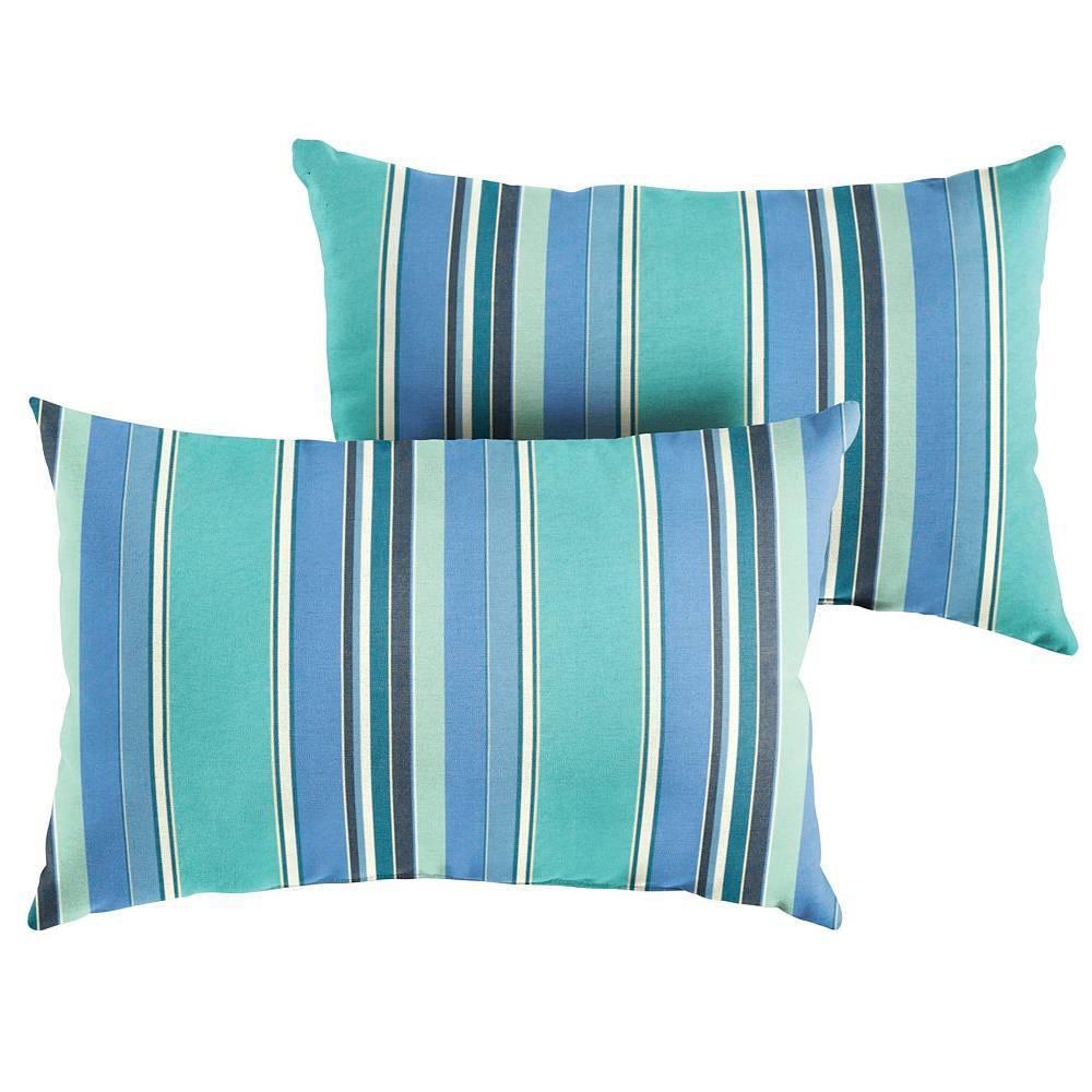 Sunbrella 2pk Lumbar Outdoor Throw Pillows Dolce Oasis