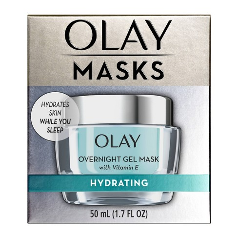 Olay Masks Hydrating Overnight Gel Mask with Vitamin E - 1.7 fl oz - image 1 of 4