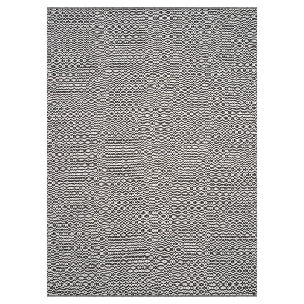Ivory/Navy (Ivory/Blue) Stripe Flatweave Woven Area Rug - (9'X12') - Safavieh