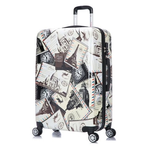 "InUSA PRINTS 28"" Hardside Spinner Suitcase - Stamps - image 1 of 7"