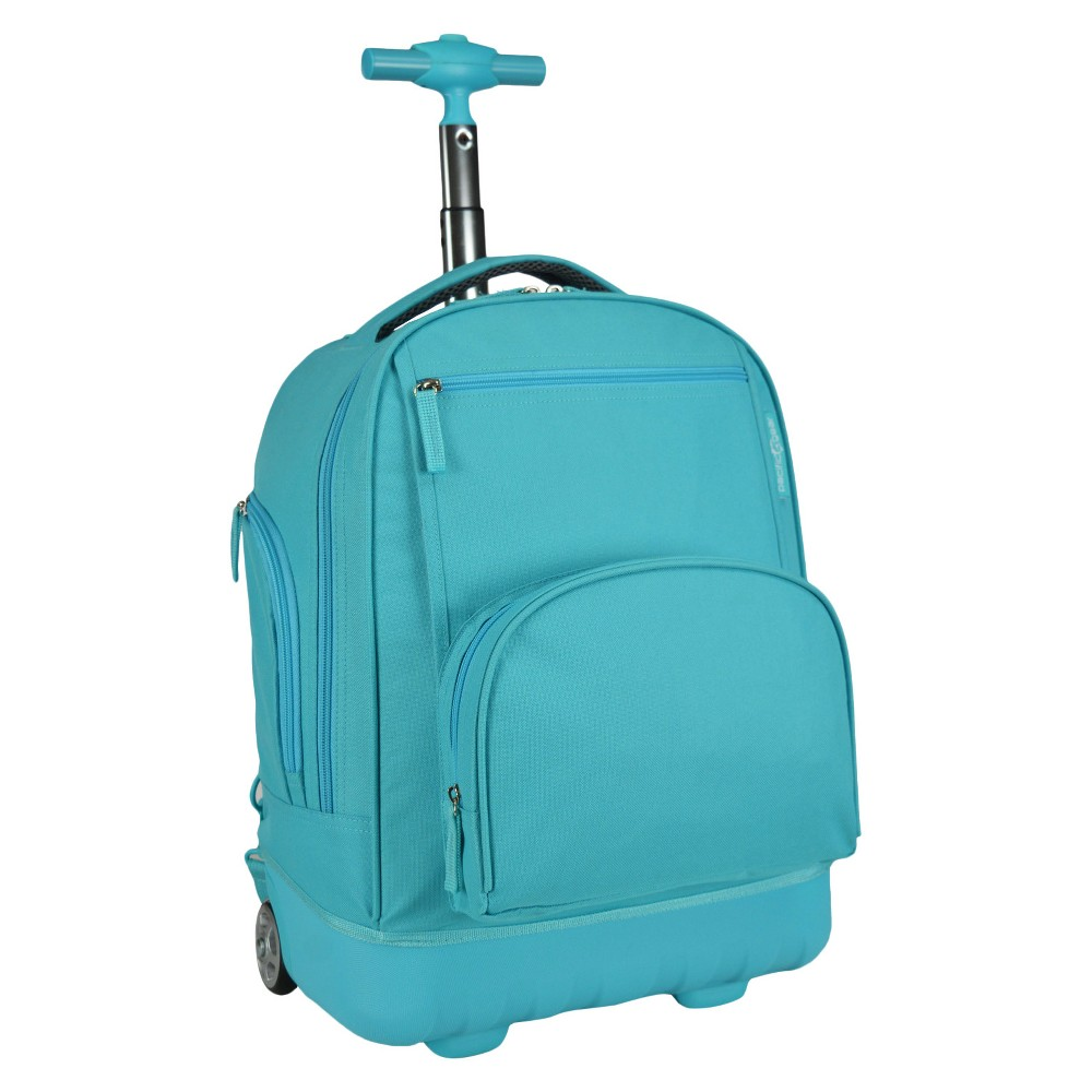 Pacific Gear Treasureland Hybrid Lightweight Rolling Backpack - Teal, Teal Wharf