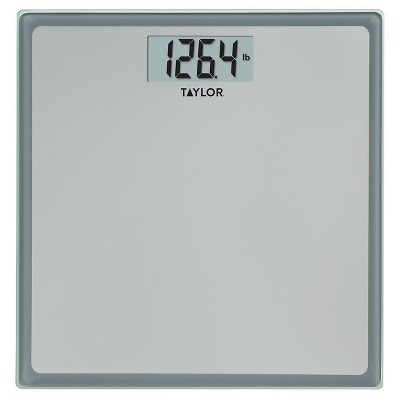 Digital Glass Bathroom Scale Gray/Silver - Taylor