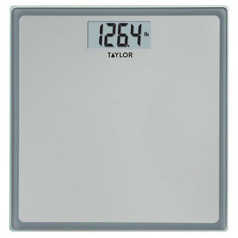 Digital Glass Bathroom Scale Gray/Silver - Taylor - image 1 of 4