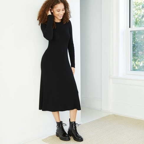 Women's Long Sleeve Sweater Dress - A New Day™  - image 1 of 3