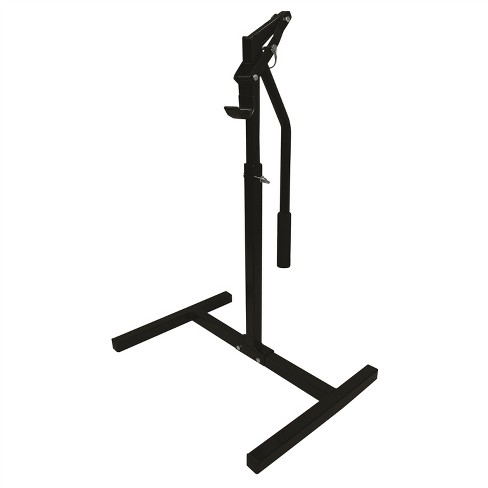 Extreme Max 5001.5013 Adjustable Snowmobile Lever Lift Stand with Vinyl Dipped Bumper Hook and a Max Lift Height of 33-Inches , Black - image 1 of 4