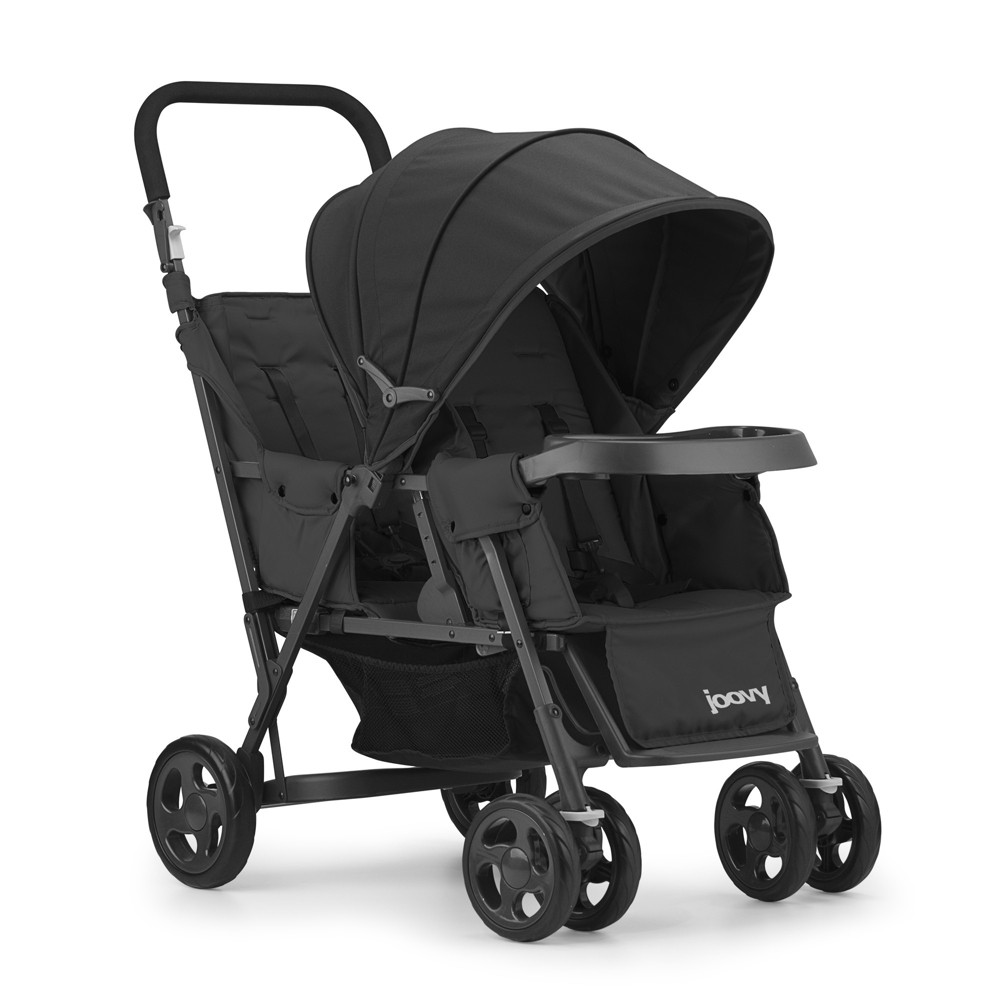 Image of Joovy Caboose Too Graphite Stand-On Tandem Stroller, Black