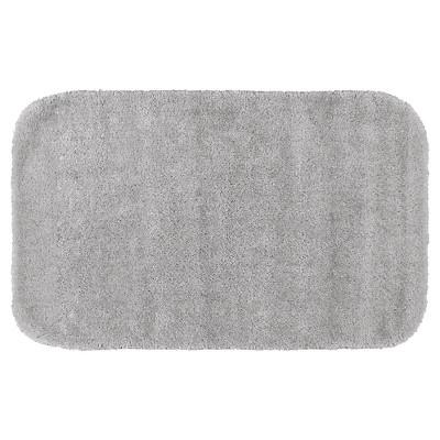 Garland Traditional Plush Washable Nylon Bath Rug - Platinum Gray (24 x40 )