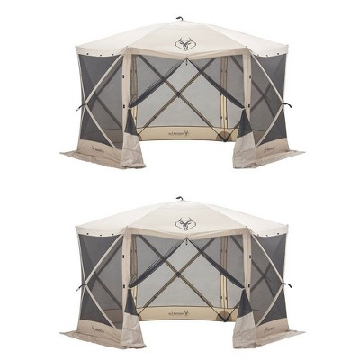 Gazelle 8 Person 6 Sided 124  X 124  Portable Canopy Gazebo Screen Tent (2 Pack)  Target  sc 1 st  Target & Gazelle 8 Person 6 Sided 124