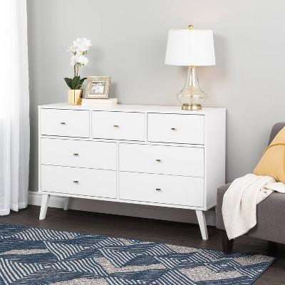 7 Drawer Milo Mid-Century Modern Dresser - Prepac