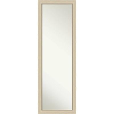 "17"" x 51"" Parthenon Narrow Wood Framed Full Length On the Door Mirror Cream - Amanti Art"
