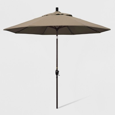9' Aluminum Push Tilt Patio Umbrella - Taupe
