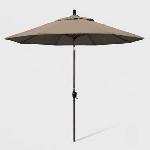 9' Aluminum Push Tilt Patio Umbrella - California Umbrella - image 1 of 4