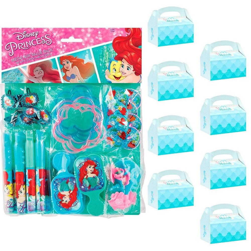 8ct Little Mermaid Filled Favor Box Kit, Multi-Colored