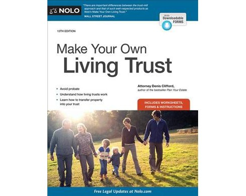Make Your Own Living Trust (Paperback) (Denis Clifford) - image 1 of 1