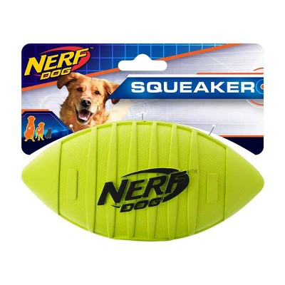 "NERF Blitz Squeak Football Dog Toy - Green - 7"""
