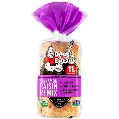 Dave's Killer Bread Organic Cinnamon Raisin Remix Bagels - 16.75oz