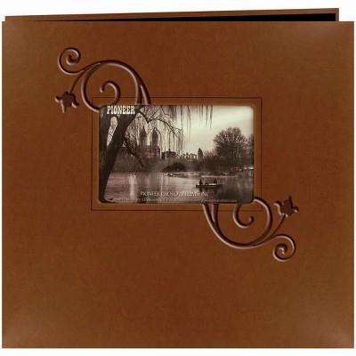 "Pioneer Embossed Leatherette Post Bound Album 12""X12"""
