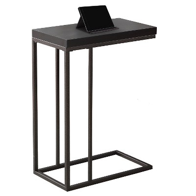 C Shape Metal Accent Table Dark Cappuccino - EveryRoom