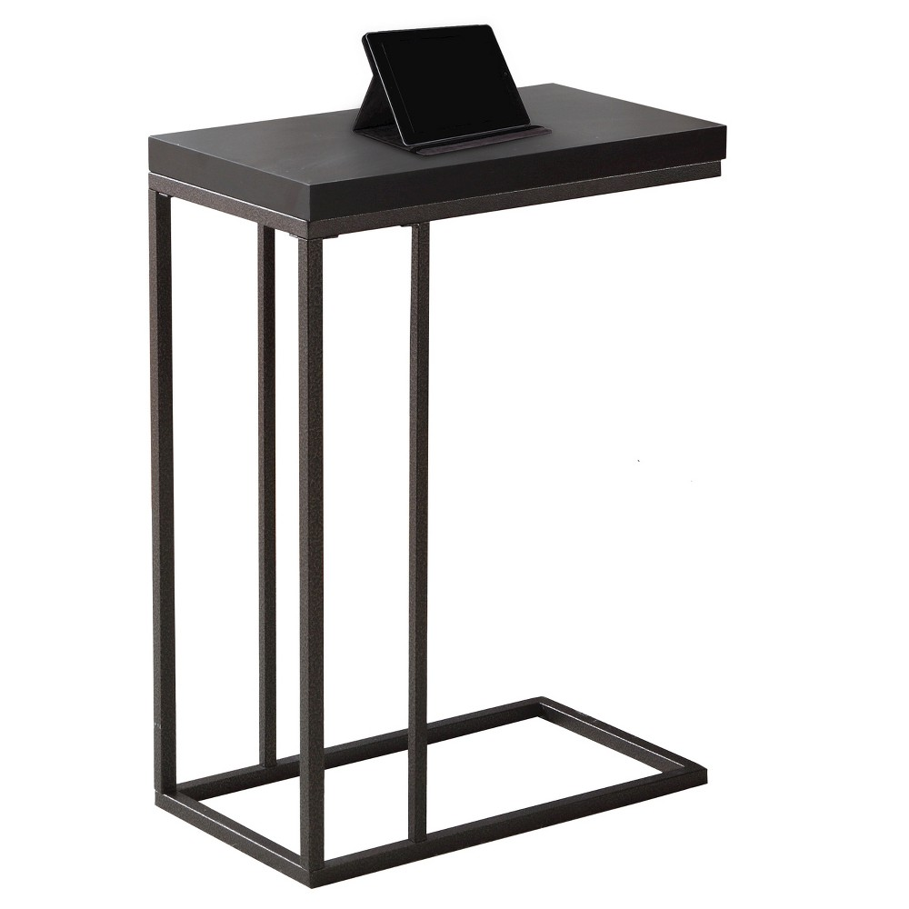 Image of Accent Table - Bronze Metal Dark Cappuccino - EveryRoom, Brown