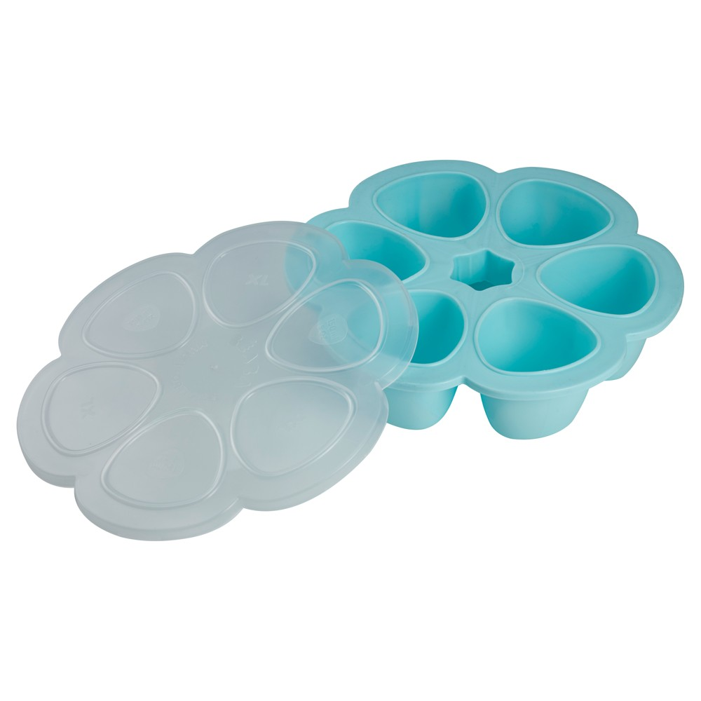 Image of Beaba Multiportions Silicon Holder Divided Tray - Blue