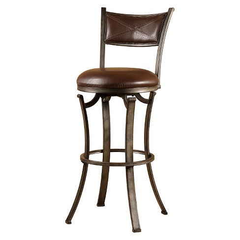 "Drummond Swivel 26"" Counter Stool Metal/Brown - Hillsdale Furniture - image 1 of 1"