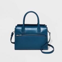 Flap Closure Satchel Handbag - A New Day™