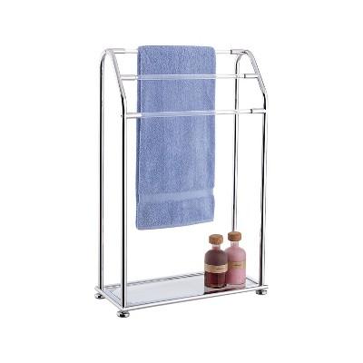 Three Bar Acrylic Towel Rack Chrome - Neu Home