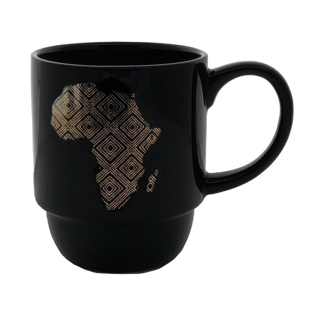 Image of DesignWorks Ceramic Mug Africa, Black