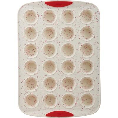Trudeau White Confetti 24 Count Mini Muffin Pan