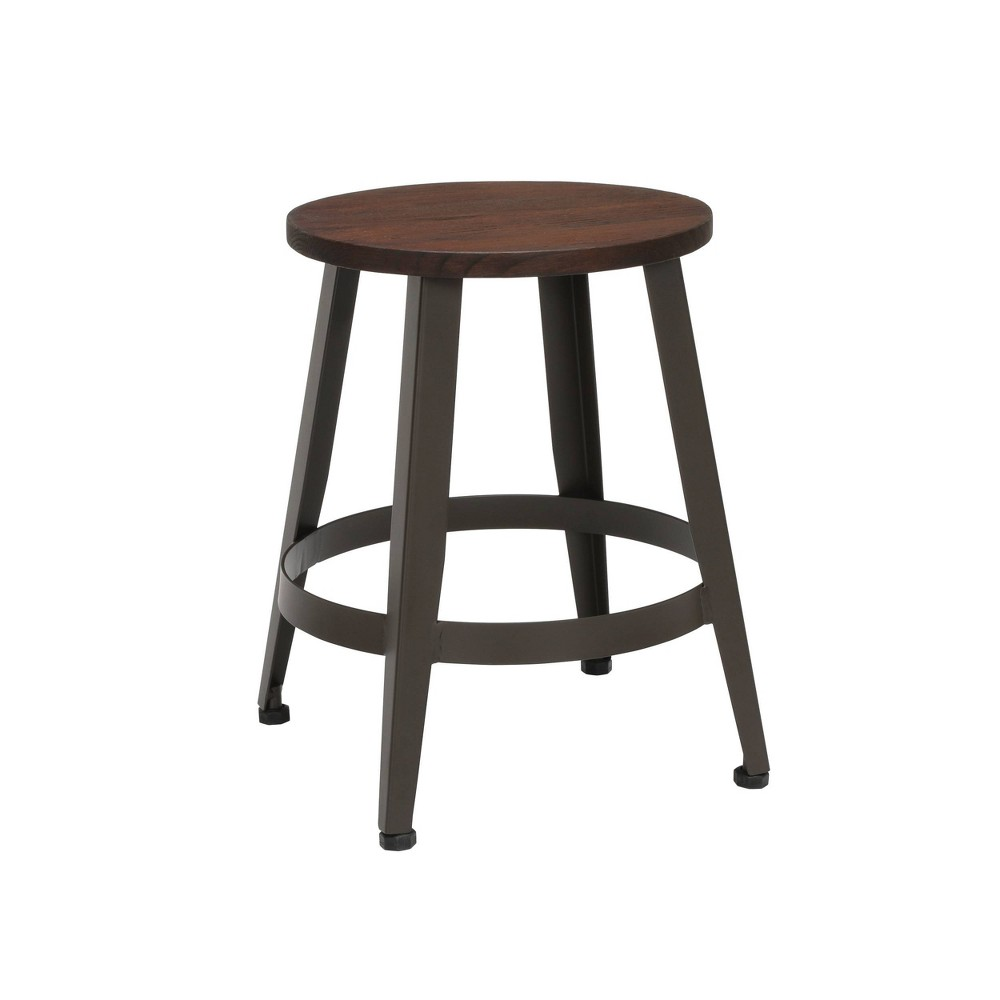 "Image of ""18"""" Table Height Metal Stool Walnut - OFM"""