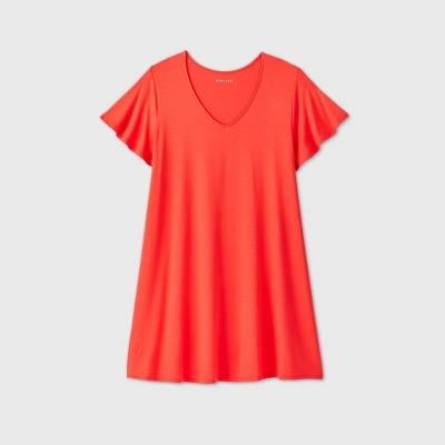 Women's Plus Size Short Sleeve A-Line Dress - Ava & Viv™