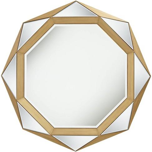 Possini Euro Design Diana Gold Geometric 41 Wide Modern Wall Mirror Target