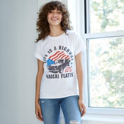 Women's Rascal Flatts Short Sleeve Graphic T-Shirt - White