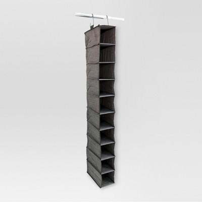 10-Shelf Hanging Closet Organizer - Gray Birch - Threshold™