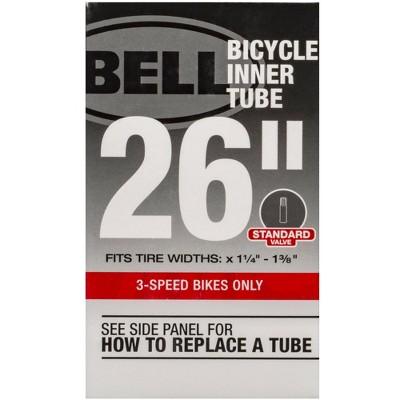 """Bell 26"""" x 1.375"""" Standard Bike Inner Tube - Black"""