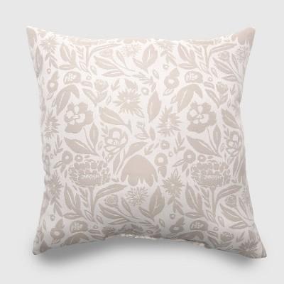 Oversize Square Garden Party Outdoor Pillow Tan - Opalhouse™