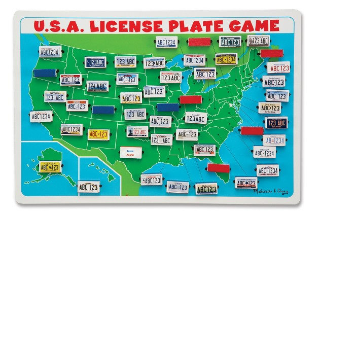 Melissa & Doug Flip to Win Travel License Plate Game - image 1 of 3