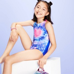 Girls' Heartburst One Piece Swimsuit - More Than Magic™ Blue