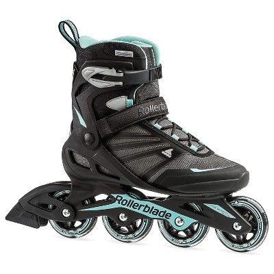 Rollerblade 07958700821-7 Zetrablade Women's Adult Fitness Inline Skate Size 7, Black and Light Blue