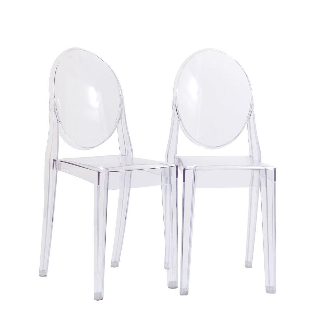 Casper Dining Chairs Set of 2 Clear - Modway